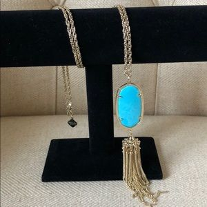 Kendra Scott Rayne necklace in turquoise magnesite